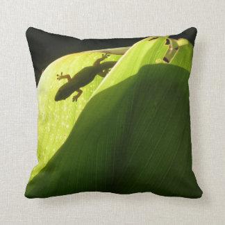 Hidden Gecko Throw Pillow