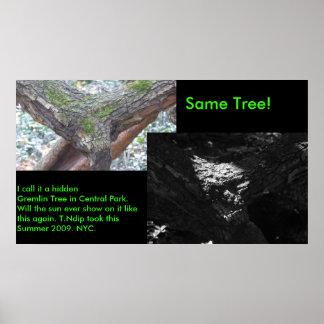 Hidden Gremlin Tree. Posters