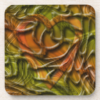Hidden Heart Hodge Podge Beverage Coaster