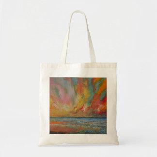 Hidden Heart Lava Sky Tote Bag