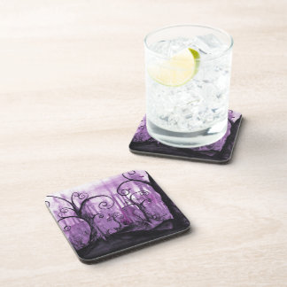 Hidden Hearts Surreal Landscape Art Coaster Set