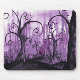 Hidden Hearts Trees Surreal Fantasy Landscape Art Mouse Pad