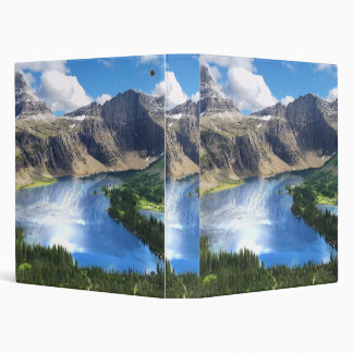 Hidden Lake in Glacier National Park 3 Ring Binder