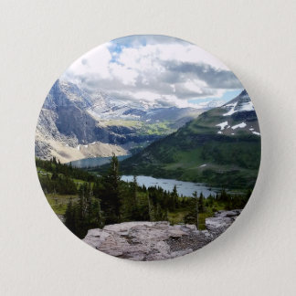 Hidden Lake Overlook Glacier National Park Montana Pinback Button