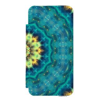 Hidden Lotus Mandala Wallet Case For iPhone SE/5/5s