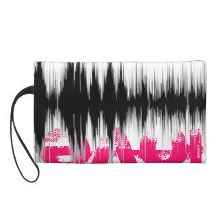 Hidden Love Sound Wave Bag Wristlet Clutch