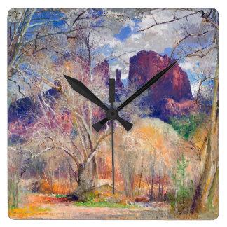 Hidden Majesty Square Wall Clock