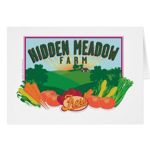 Hidden Meadow Farm-Card Greeting Card
