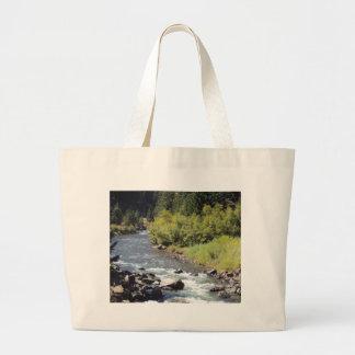 Hidden Mountain River Jumbo Tote Bag