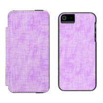 Hidden Pain in Purple Wallet Case For iPhone SE/5/5s
