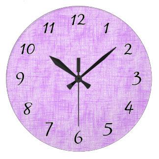 Hidden Pain in Purple Large Clock