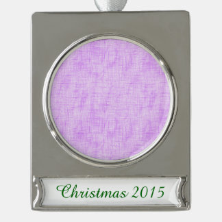 Hidden Pain in Purple Silver Plated Banner Ornament