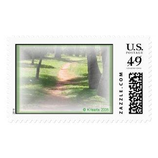 hidden paths postage stamp