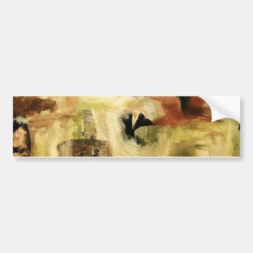 Hidden Places From Original Art Painting Bumper Sticker
