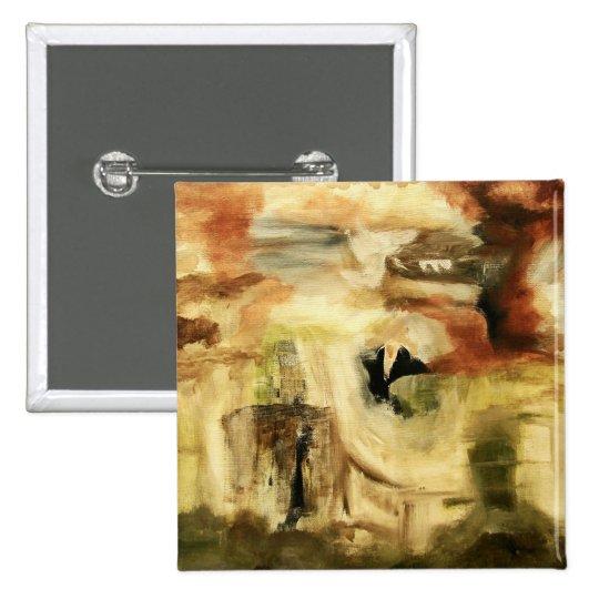 Hidden Places From Original Art Painting Pinback Button