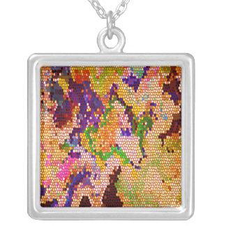 Hidden Pleasures: Gem Treasure Square Pendant Necklace
