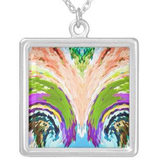 Hidden Pleasures: Natural Fountains Square Pendant Necklace