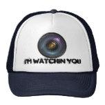 Hidden secret camera lens trucker hat