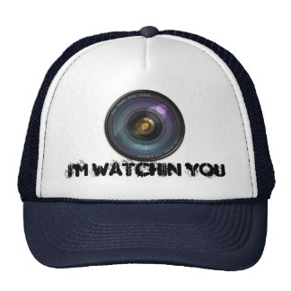 Hidden secret camera lens trucker hat
