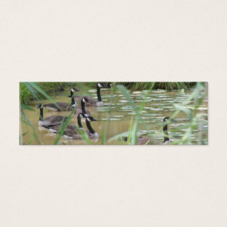 Hidden Serenity Wild Geese Nature Mini Bookmark Mini Business Card