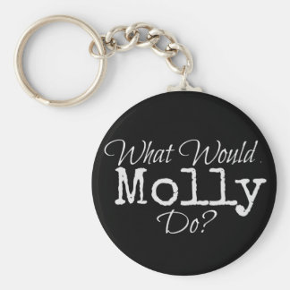 """HIDDEN series - """"What Would Molly Do?"""" keychain"""