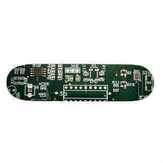 hidden skulls circuit board skate board