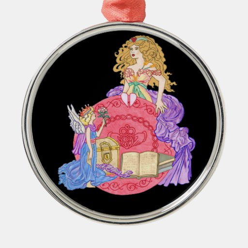Hidden Stories of the Heart Round Metal Christmas Ornament