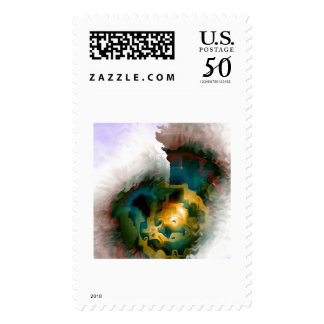 hidden temple on a holy mountain postage