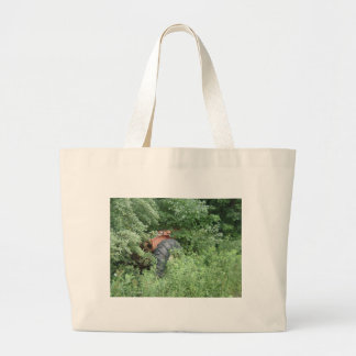 Hidden Tractor Large Tote Bag
