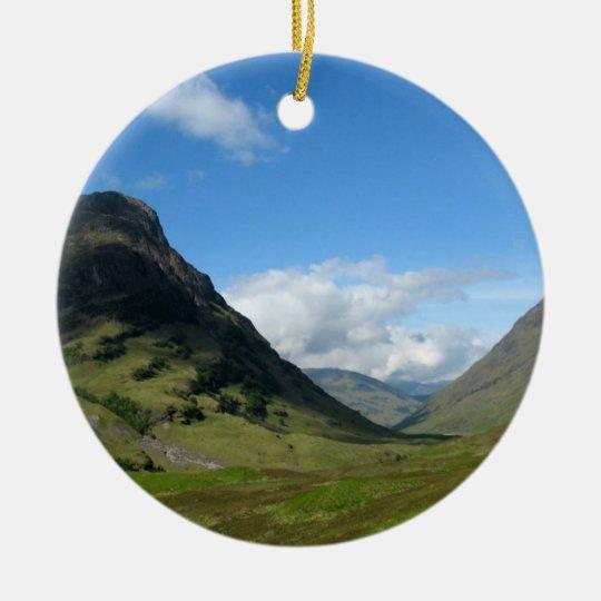 Hidden Valley Glencoe Scotland Ceramic Ornament