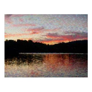 Hidden Valley Lake Sunset - Post Card