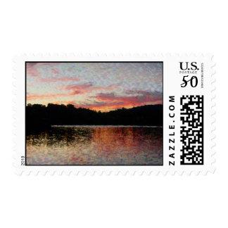 Hidden Valley Lake Sunset - Postage Stamp