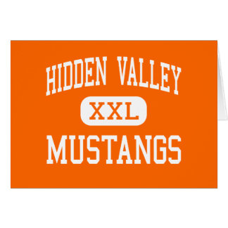 Hidden Valley - Mustangs - High - Grants Pass Greeting Card