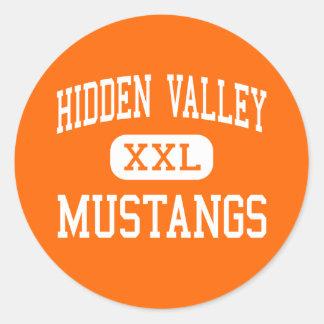 Hidden Valley - Mustangs - High - Grants Pass Round Stickers
