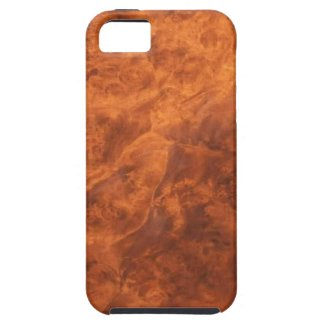 Hidden Wolves in Walnut Burl iPhone 5 case