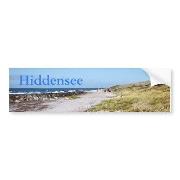 Beach Themed Hiddensee Bumper Sticker