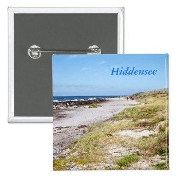 Beach Themed Hiddensee Pinback Button