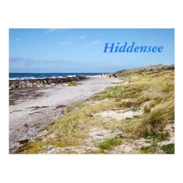 Beach Themed Hiddensee Postcard