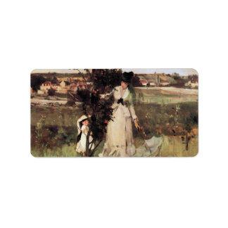 Hide-and-seek by Berthe Morisot Custom Address Label