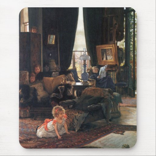 Hide-and-seek by James Tissot Mouse Pad