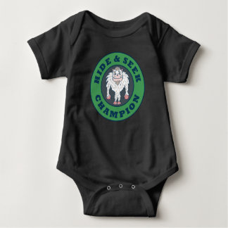 Hide And Seek Champion Abominable Snowman Baby Bodysuit