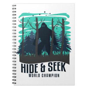 603091c2 Hide And Seek Champion Funny Bigfoot Yeti Gift Notebook