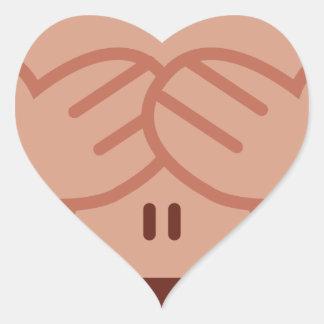 Hide and seek Emoji Monkey Heart Sticker