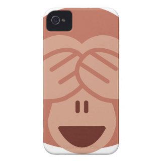 Hide and seek Emoji Monkey iPhone 4 Case