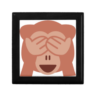 Hide and seek Emoji Monkey Jewelry Box