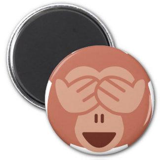Hide and seek Emoji Monkey Magnet
