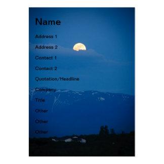 Hide and seek moon business card template