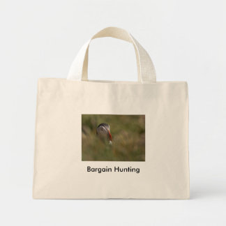 Hide and Seek Puffin, Bargain Hunting Canvas Bag