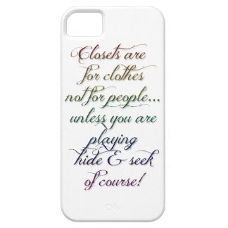 Hide and Seek Rainbow Quote Case iPhone 5 Case