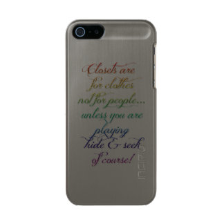 Hide and Seek Rainbow Quote iPhone 5/5s Case Incipio Feather® Shine iPhone 5 Case